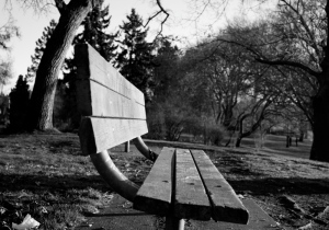 BW park-bench-pic